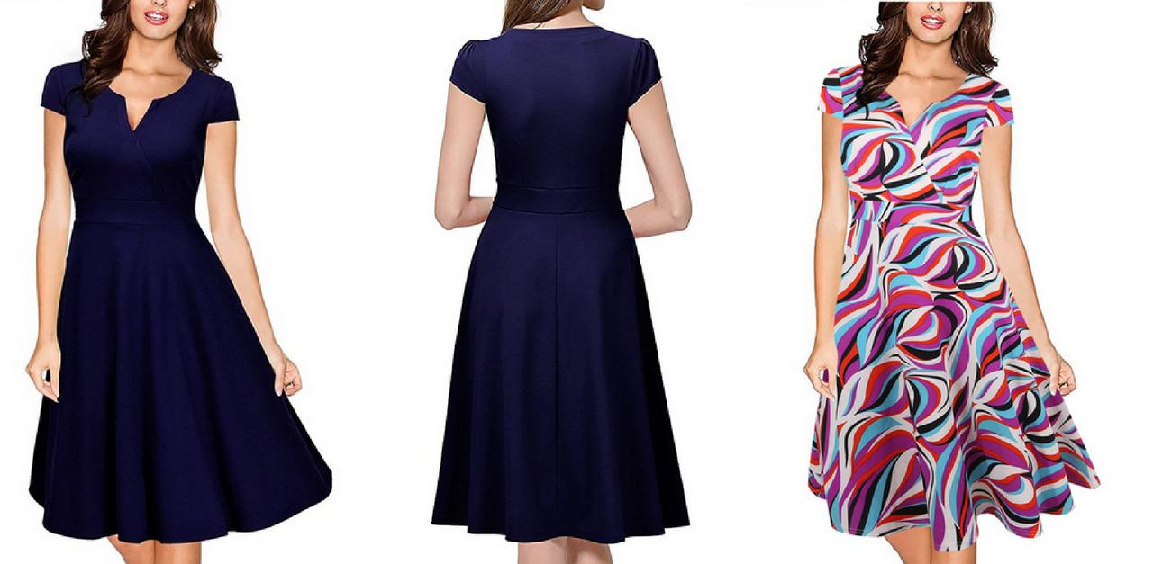 751e6a12da28 Elegantné vintage šaty à la Audrey Hepburn